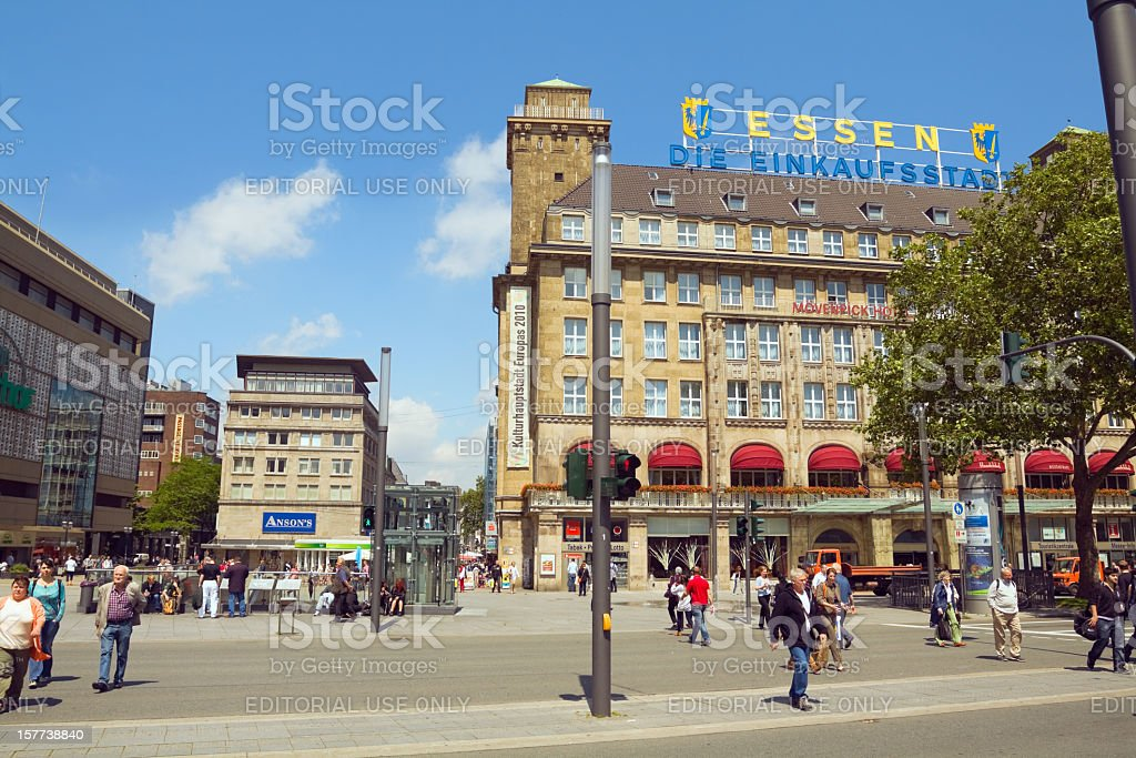 Essen - the shopping city stock photo