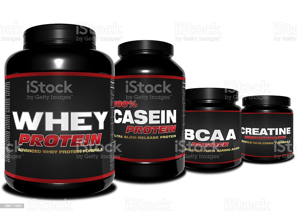 Essential Body Building Supplements royalty-free stock photo