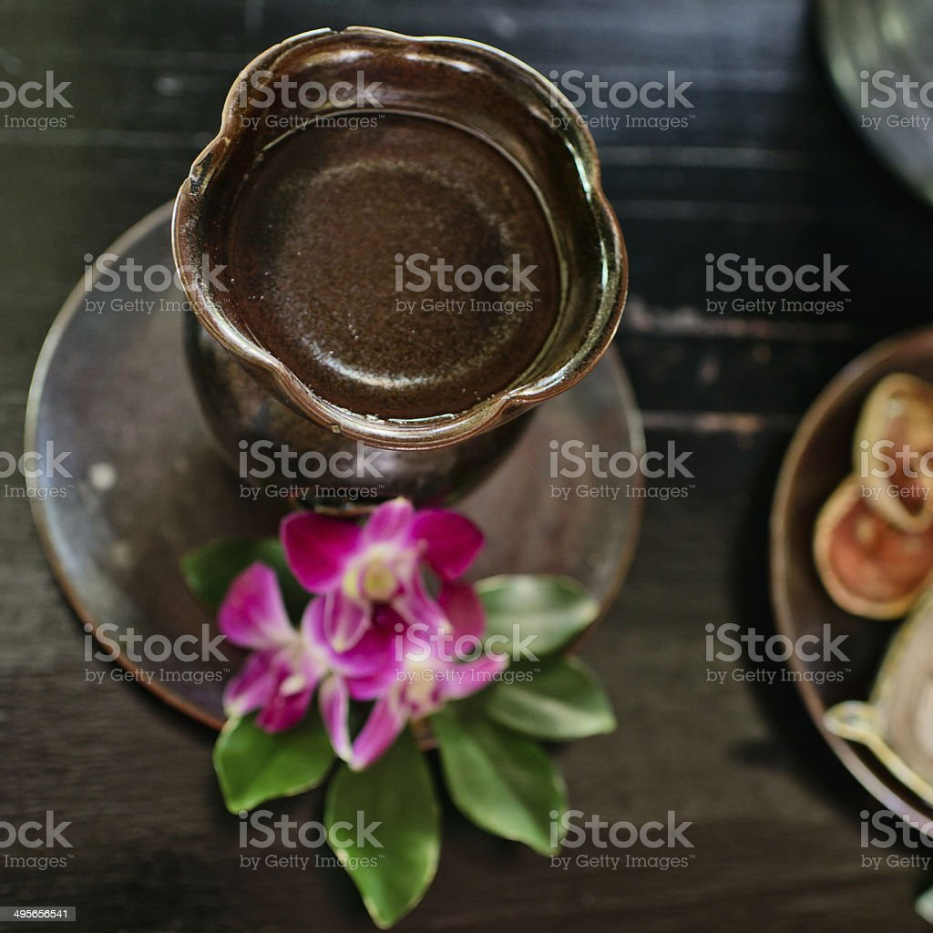 essential oil for aromatherapy royalty-free stock photo