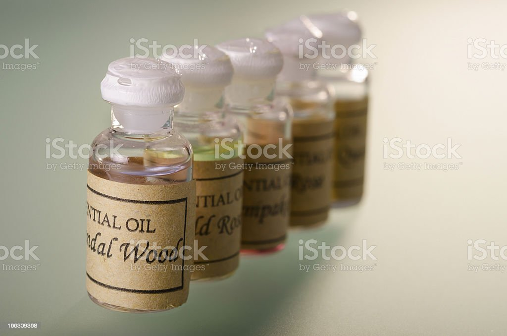Essential oils assortment royalty-free stock photo