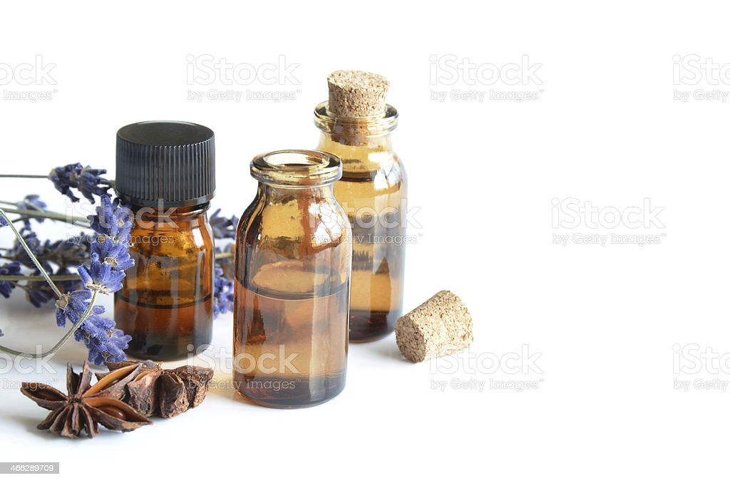 essential oils for aromatherapy stock photo
