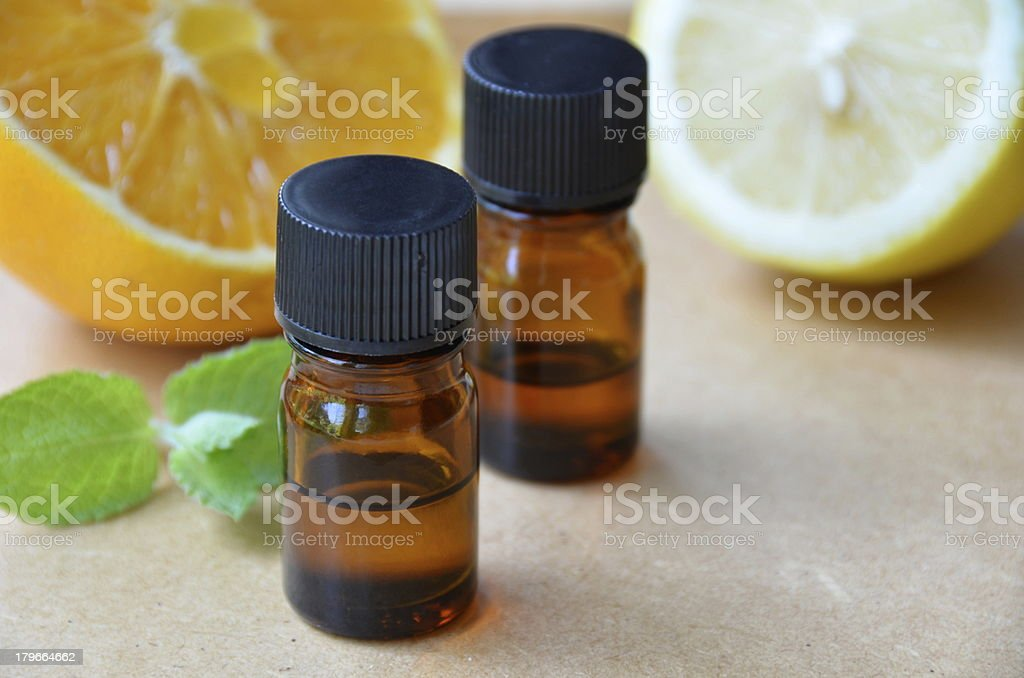 essential oils with fruits royalty-free stock photo