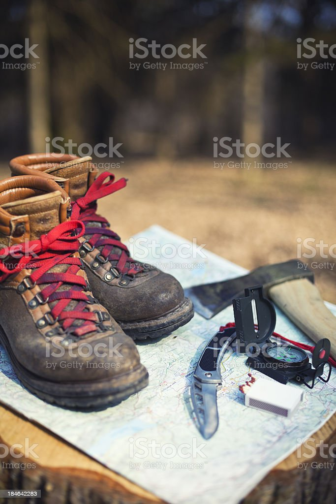 essential scouts equipment stock photo
