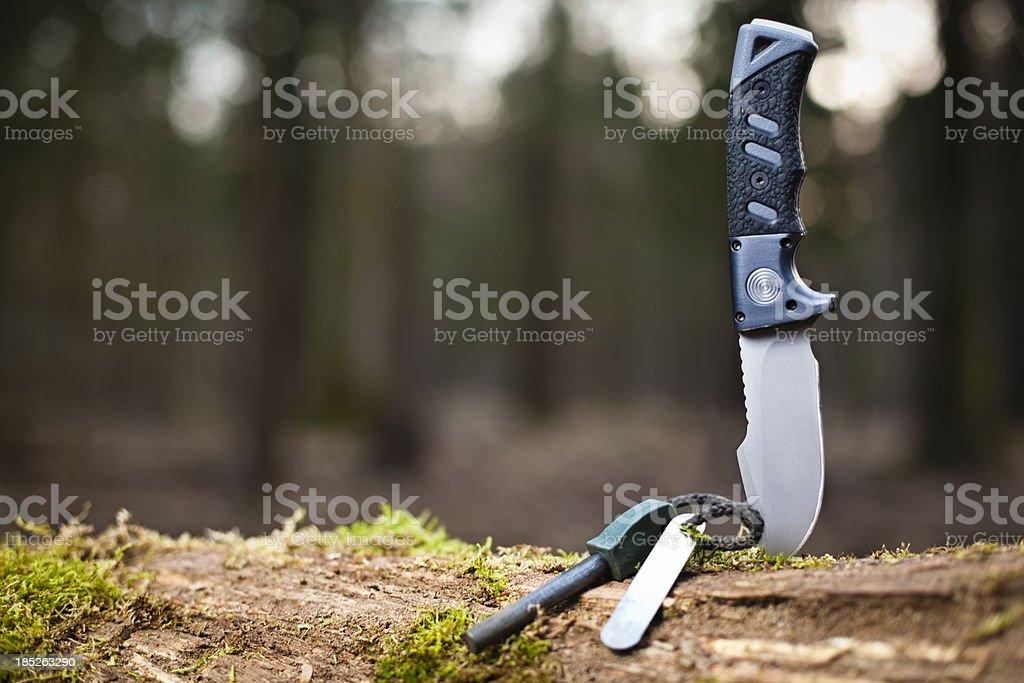 essential survival equipment stock photo