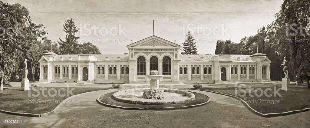 Essentuky. The upper mineral baths. Imitation of old photos. stock photo