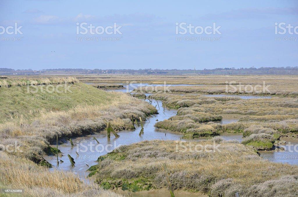 Essex coastal waters royalty-free stock photo