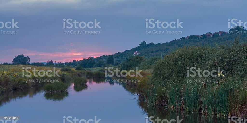 Essex countryside uk Sunset stock photo