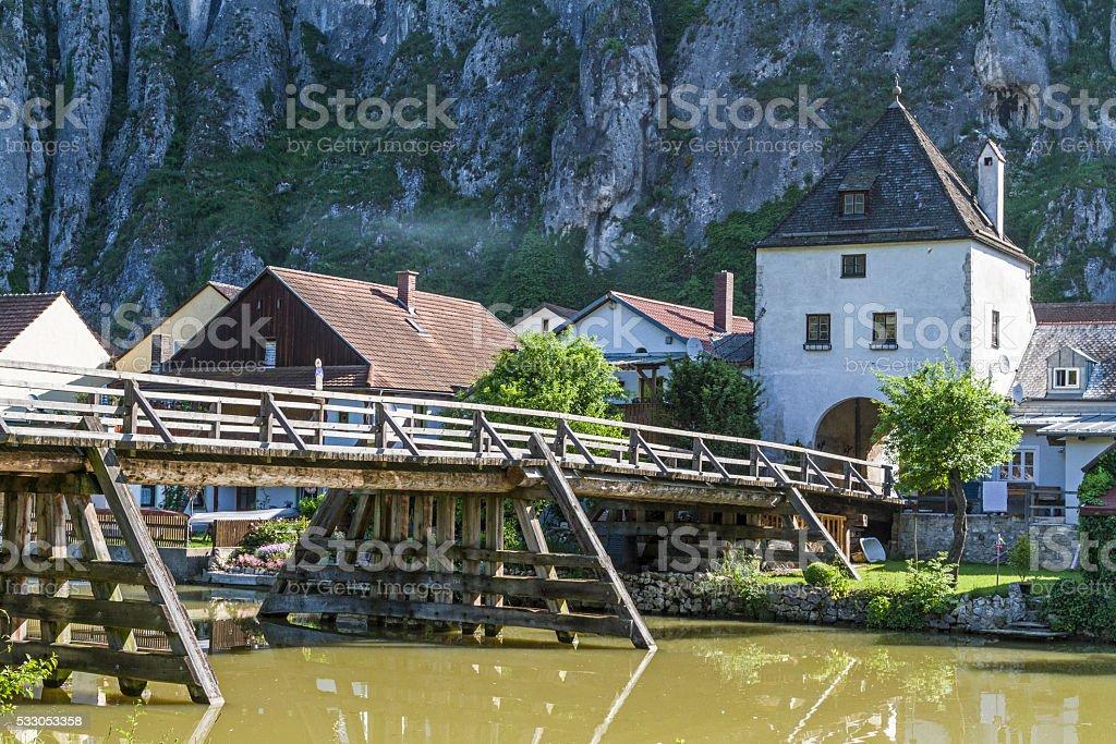 Essing in Altmuehl valley stock photo