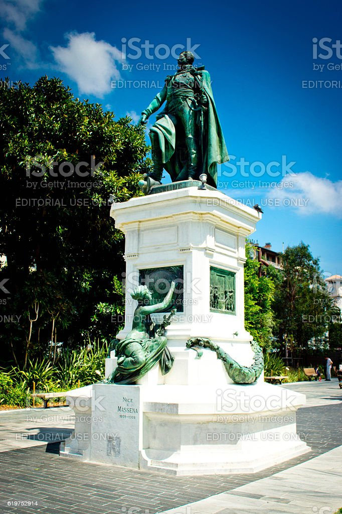 Essling Statue in Nice France stock photo