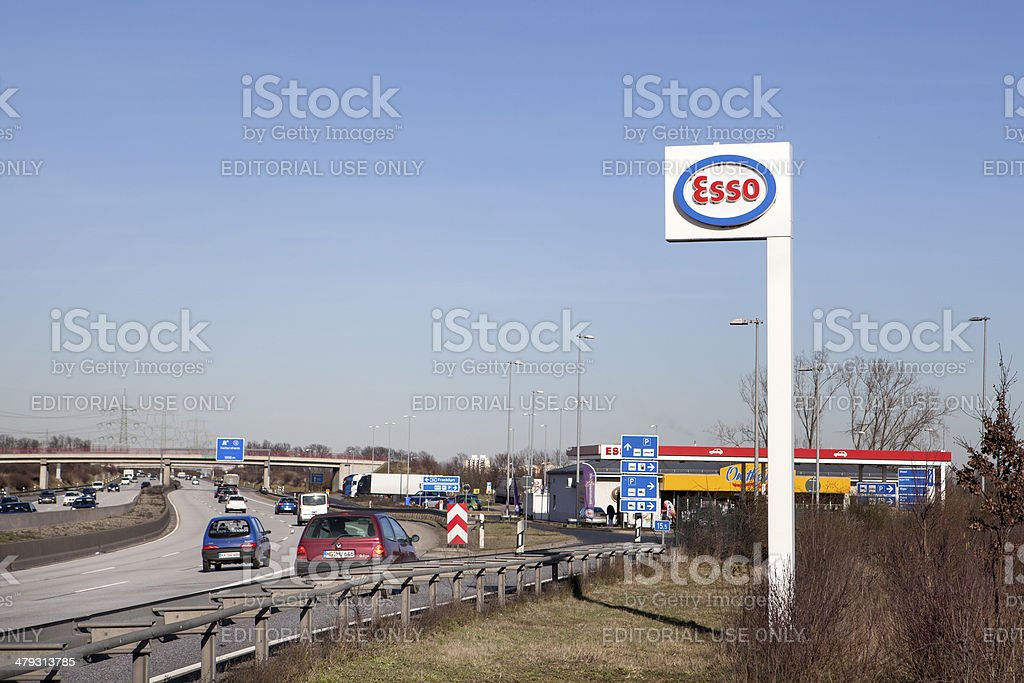 Esso station stock photo