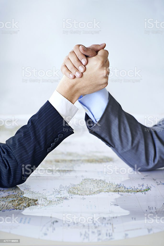 Establishing an alliance stock photo