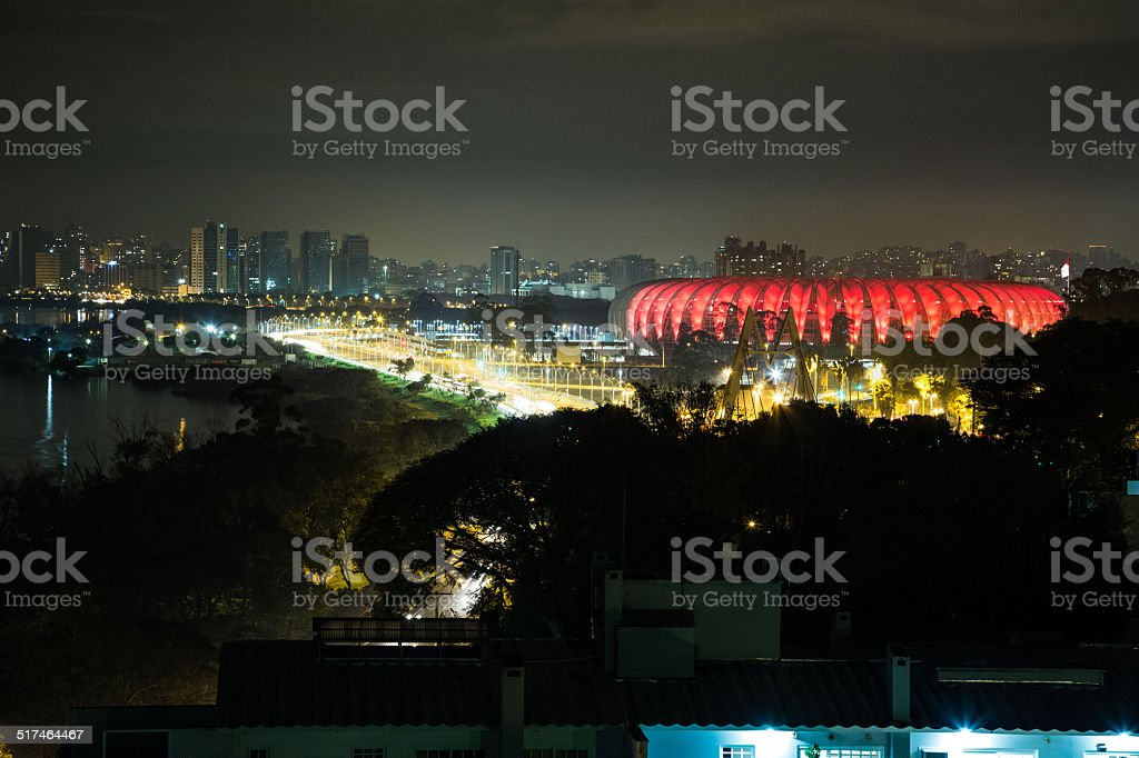 Estadio Beira Rio - Porto Algre - Brasil stock photo