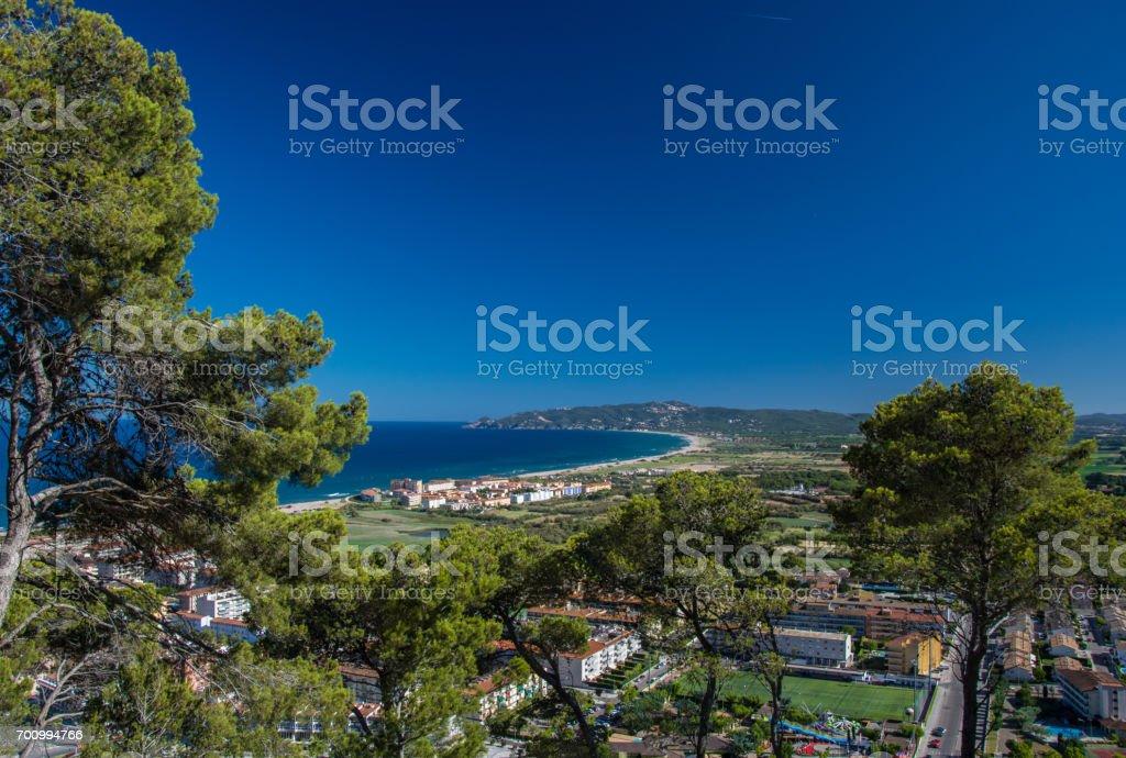 Estartit bay on the Costa Brava of Catalonia stock photo