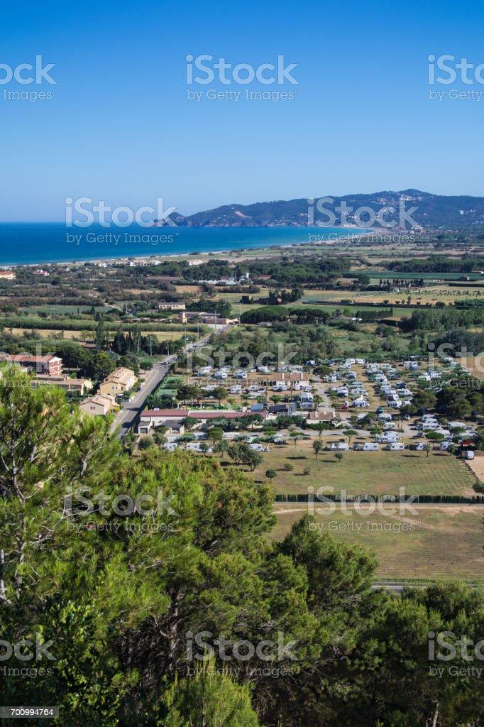 Estartit bay on the Costa Brava stock photo