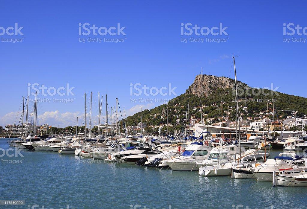 Estartit port (Costa Brava, Spain) stock photo