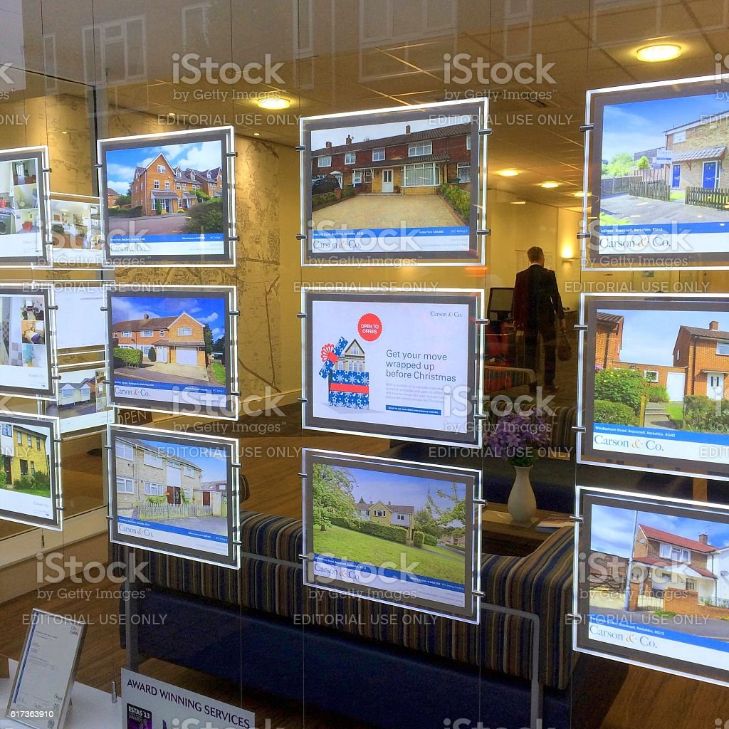 Estate Agency Window Display stock photo