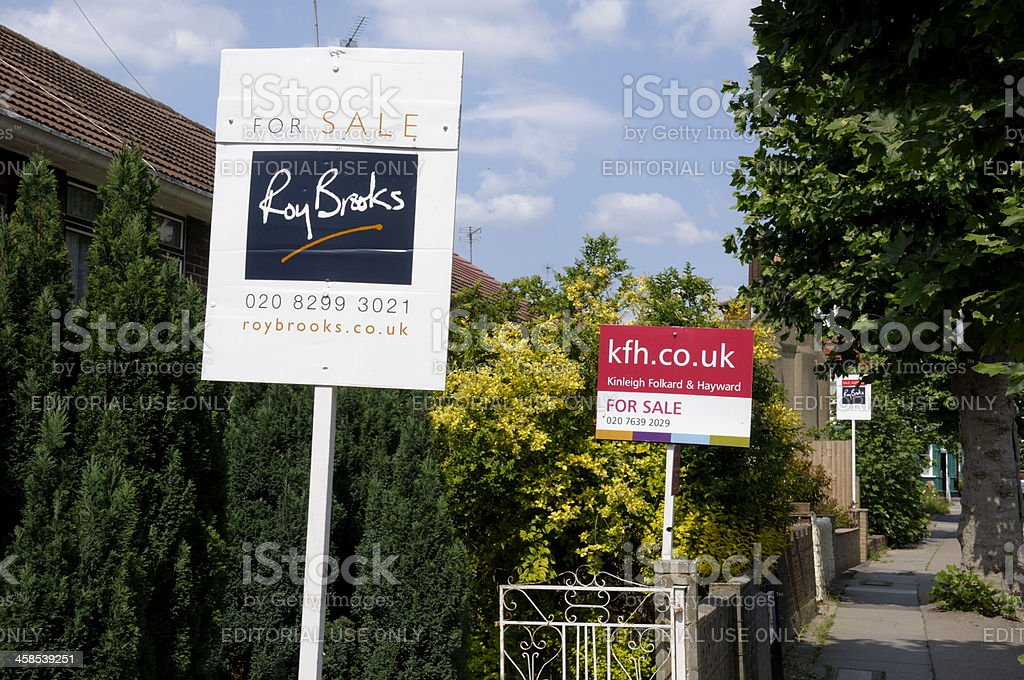 Estate Agents Sign royalty-free stock photo