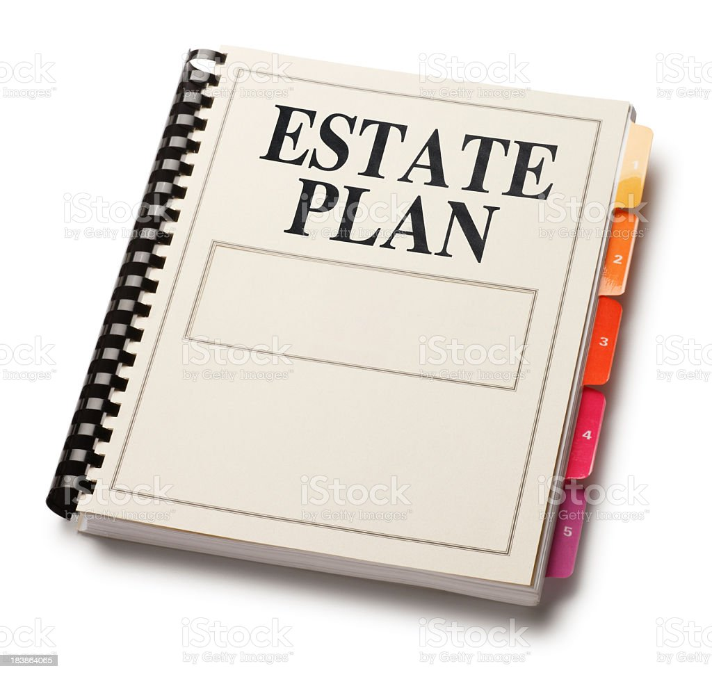 Estate Plan Manual On A White Background royalty-free stock photo
