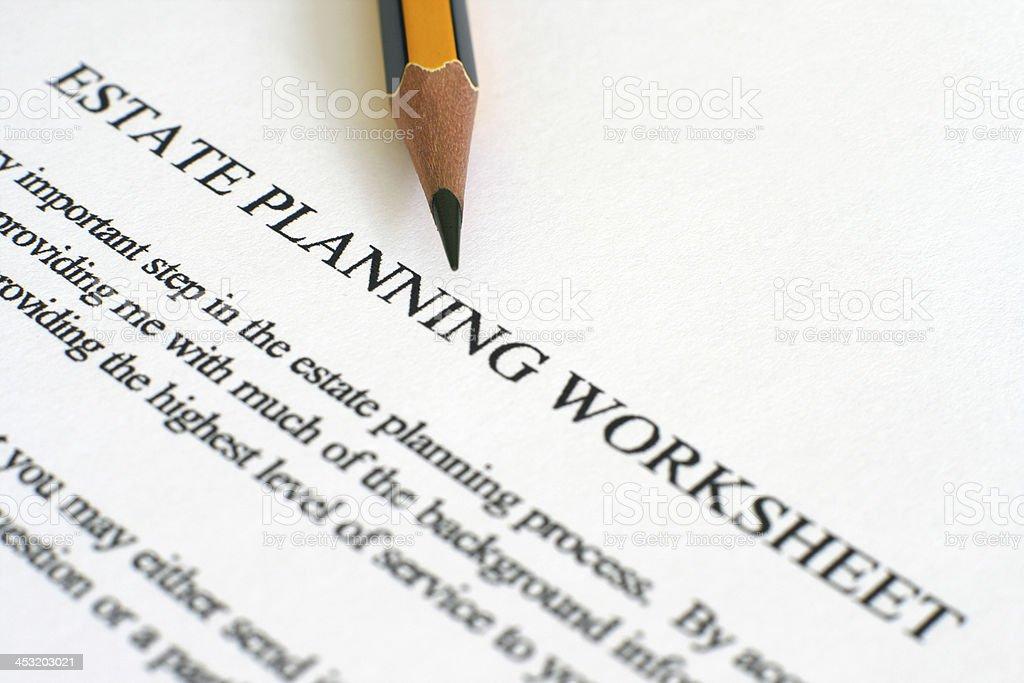 Estate plan sheet royalty-free stock photo