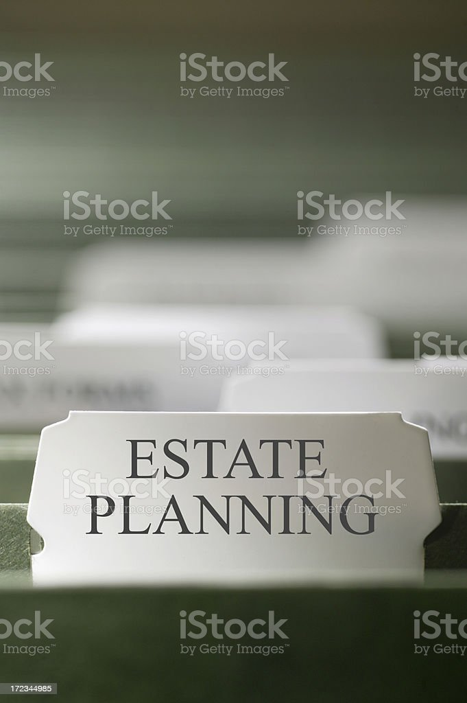Estate Planning Index Tab stock photo