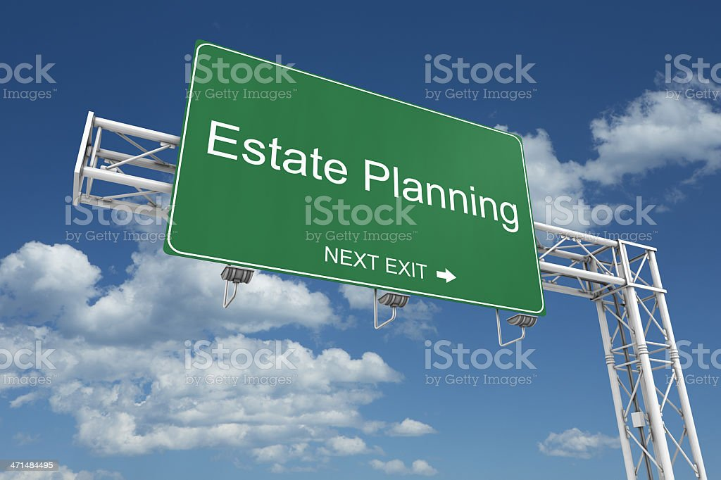 Estate Planning Sign royalty-free stock photo