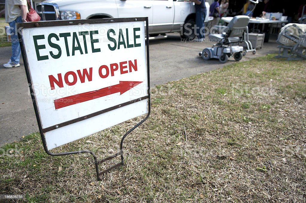 Estate Sale royalty-free stock photo