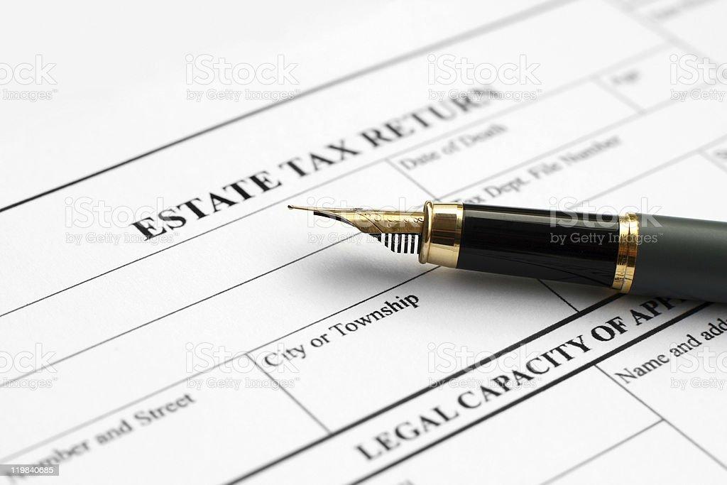 Estate tax return royalty-free stock photo