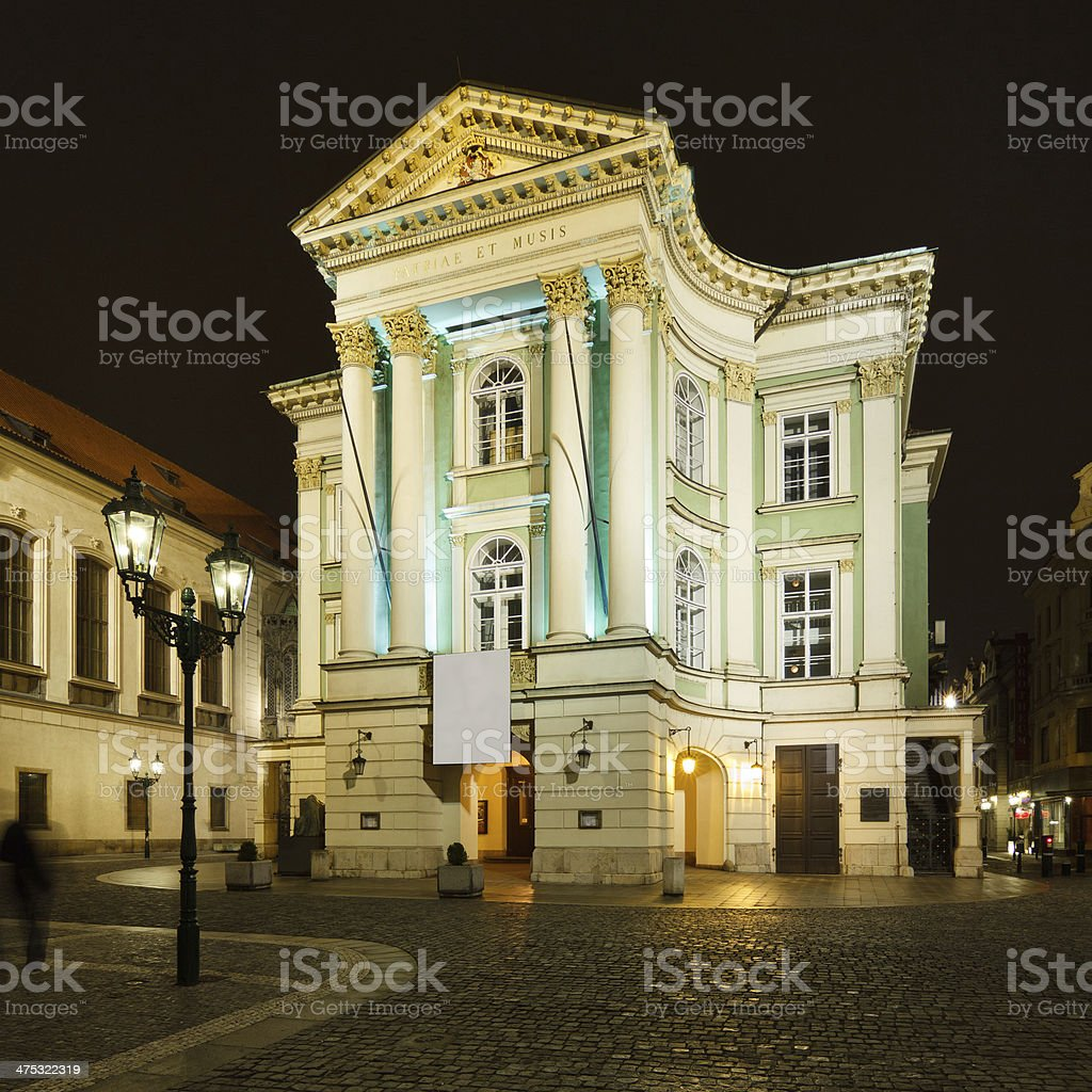 Estates Theatre in Prague stock photo