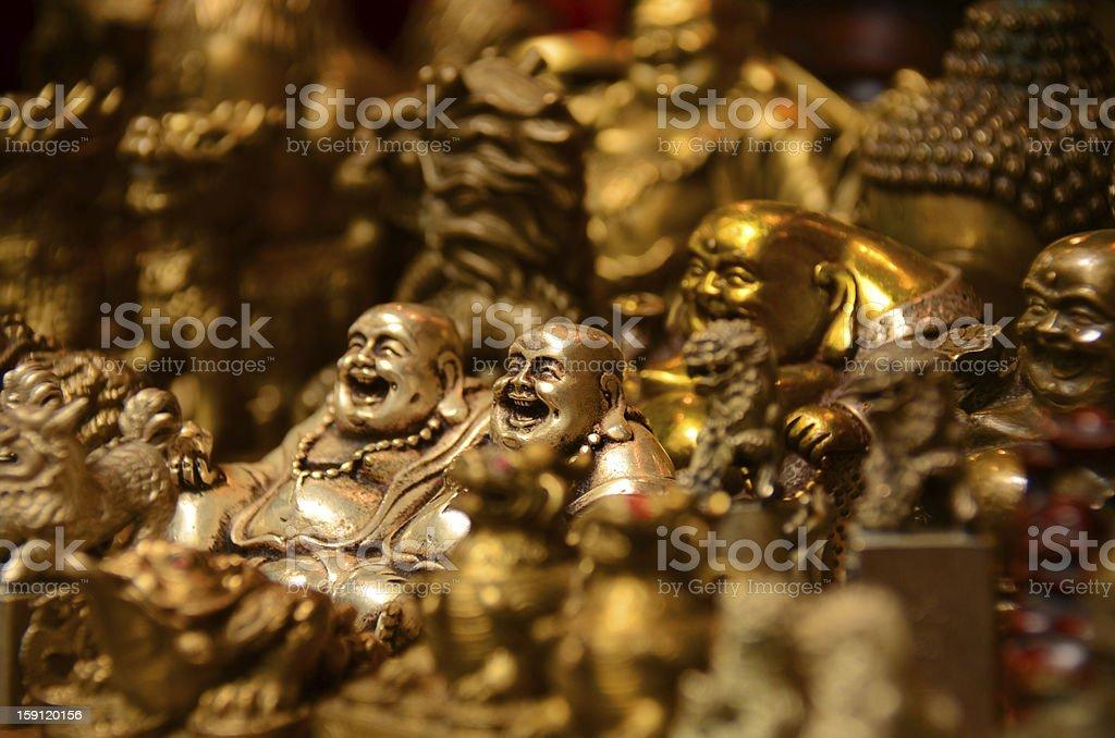 Estatua de buda en color oro royalty-free stock photo