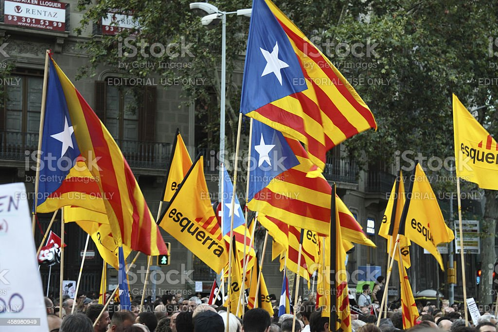 Estelada - Catalan Speratist Flag stock photo