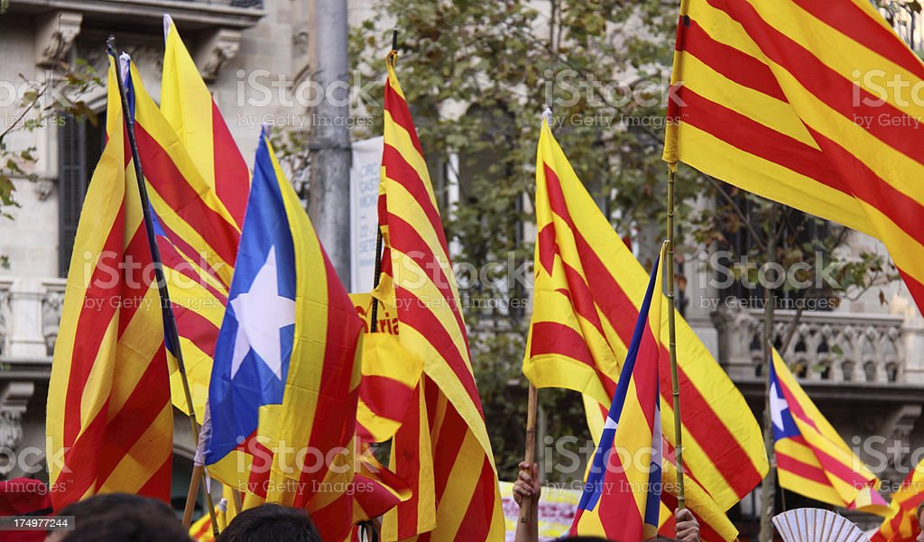 Estelada - Many Independance Flags stock photo