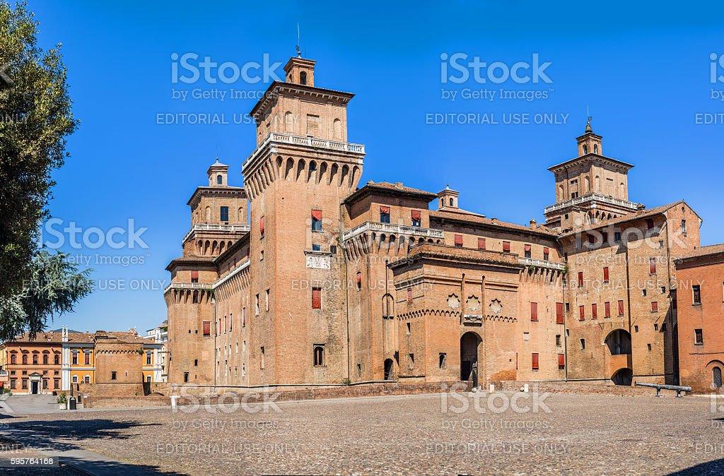 Estense castle of Ferrara. Emilia-Romagna. Italy. stock photo