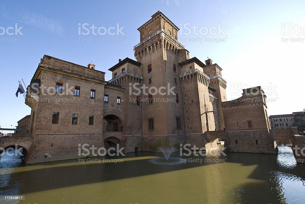 Estensi Castle - Wide stock photo