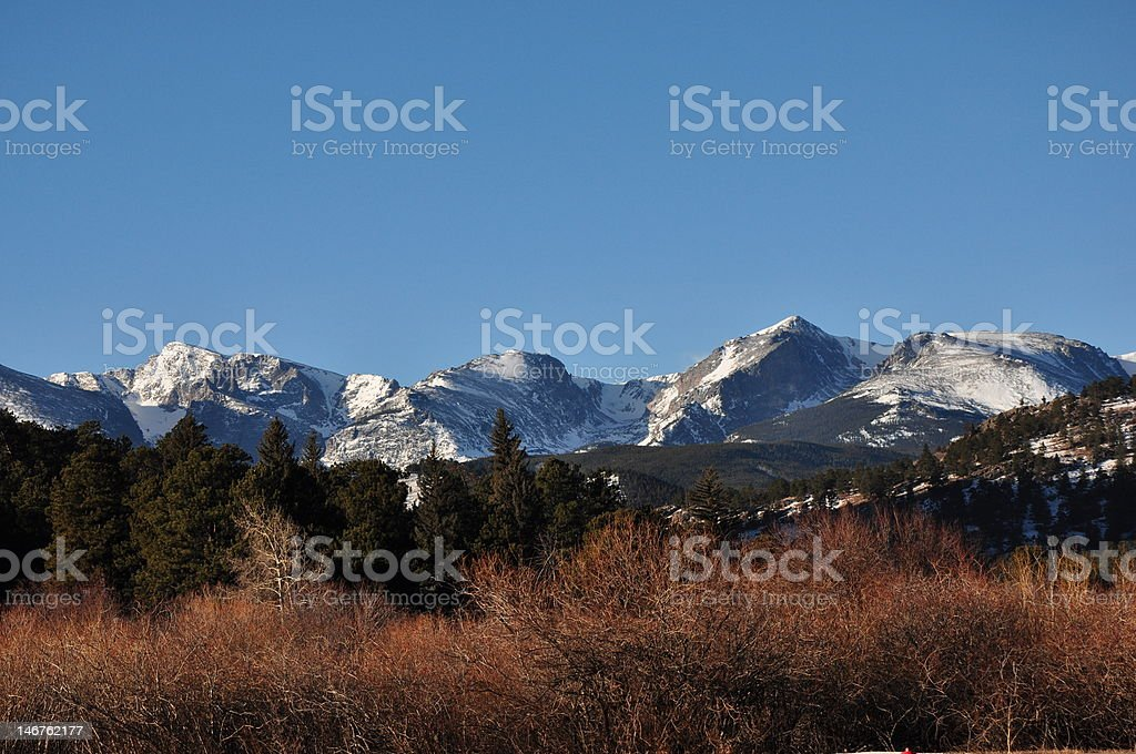 Estes Park Skyline stock photo