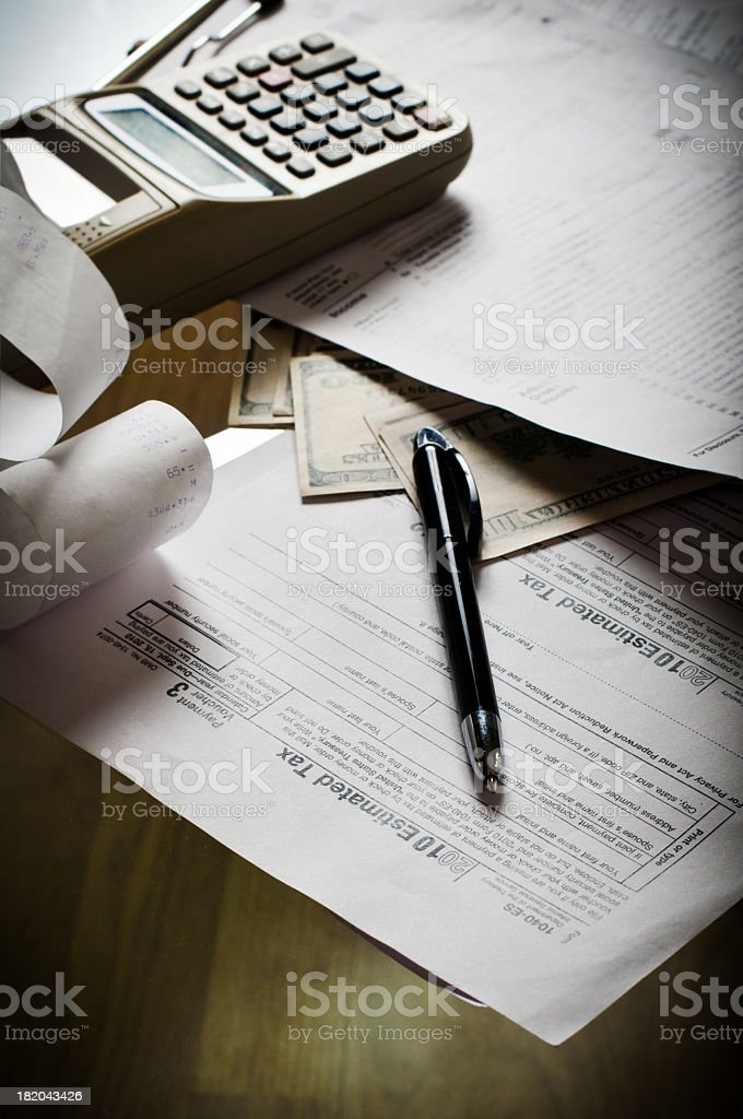 Estimated Tax  Form Stock Photo   Istock