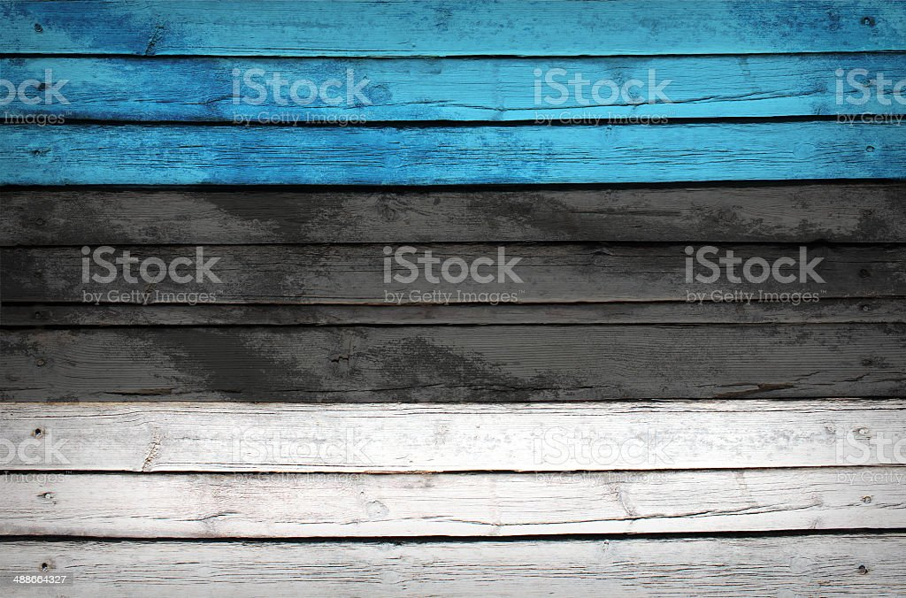 Estonia flag painted on wooden boards royalty-free stock photo