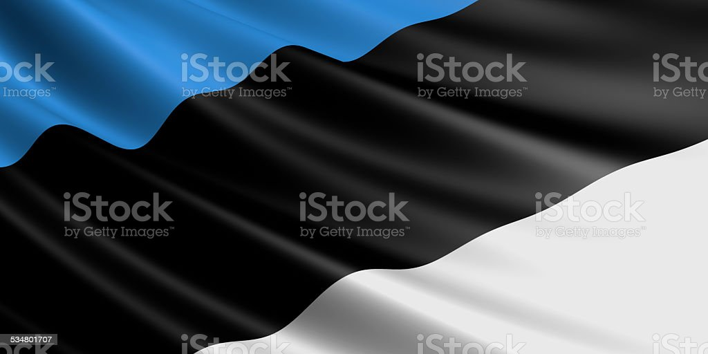 Estonia flag. royalty-free stock photo