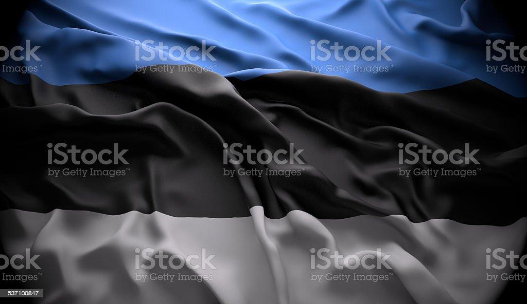 Estonia, Tallinn national official state flag stock photo
