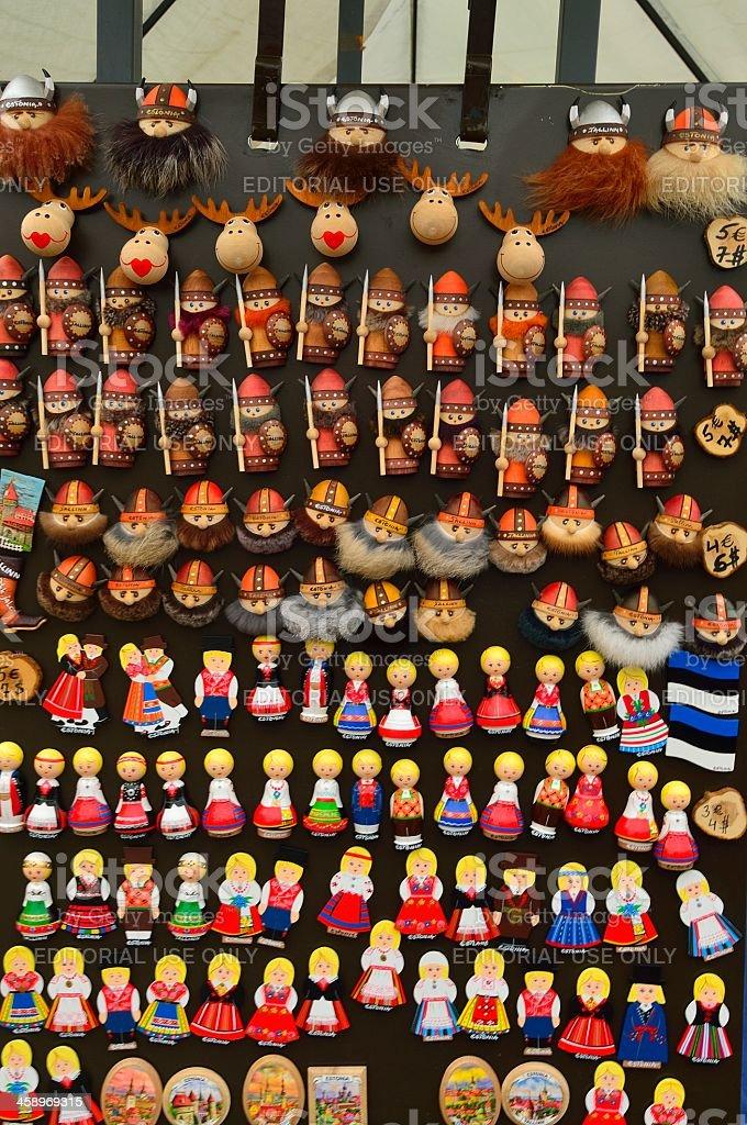 Estonian Souvenir Stand stock photo