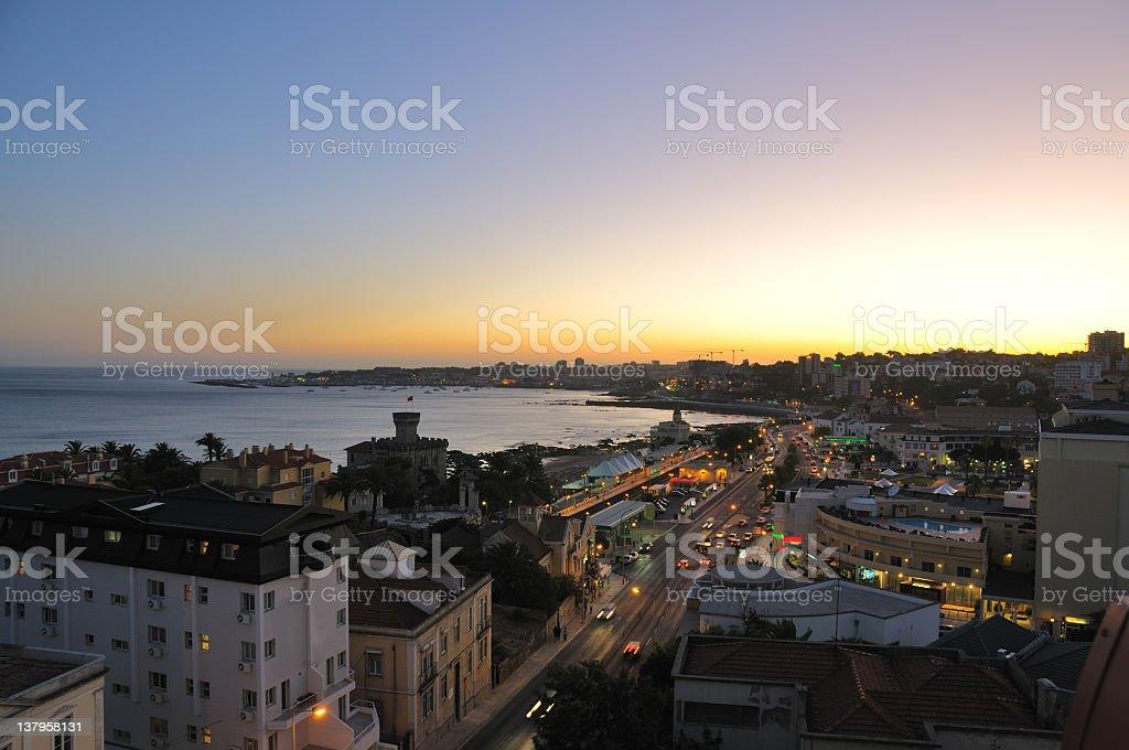Estoril at dusk stock photo