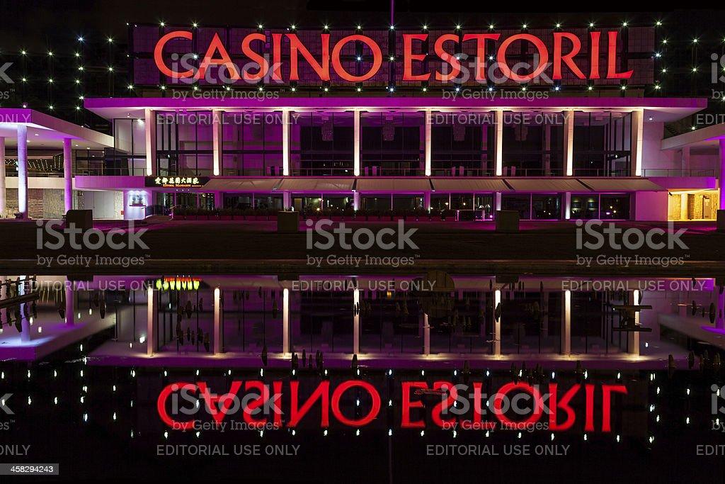 Estoril Casino at night stock photo