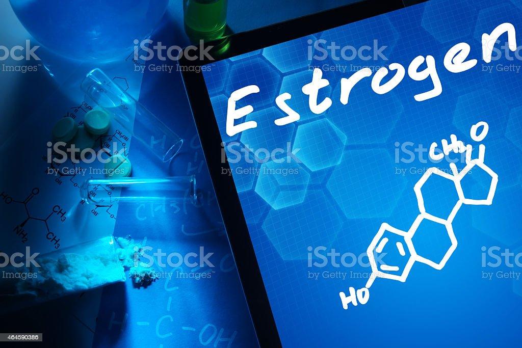 estrogen stock photo