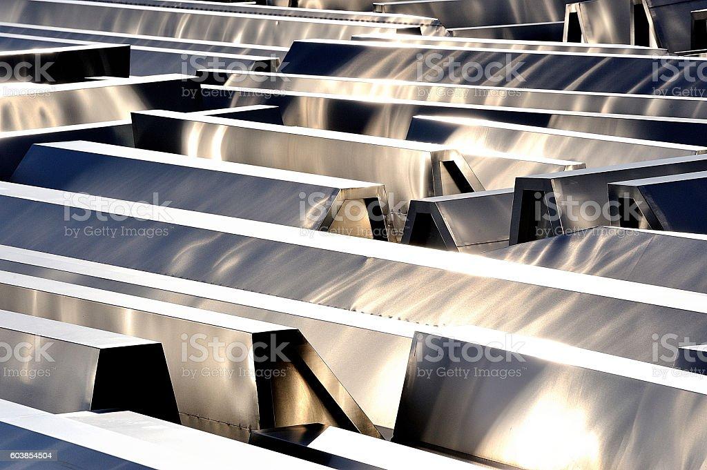 estructura metálica de tejado royalty-free stock photo