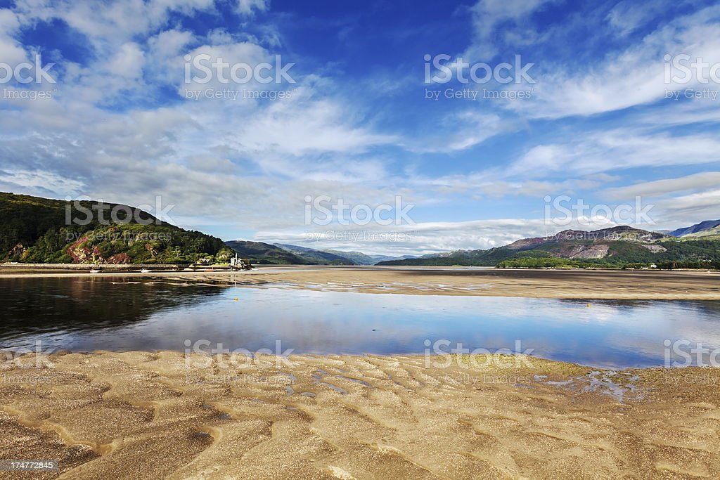 Estuary at Barmouth, West Wales stock photo