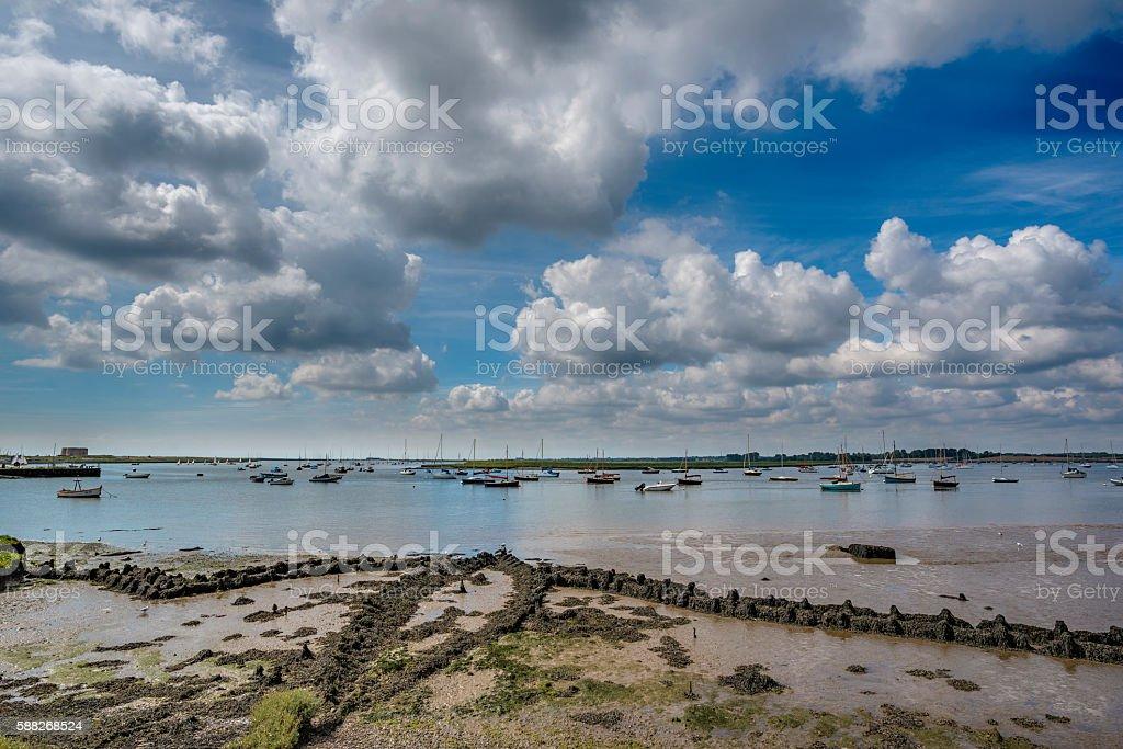 Estuary in Suffolk stock photo