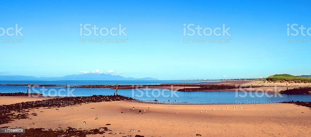 Estuary Mouth, Irvine stock photo