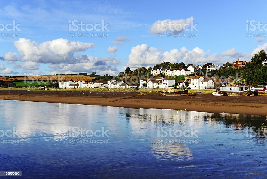 Estuary of River Torridge at Bideford in  Devon royalty-free stock photo
