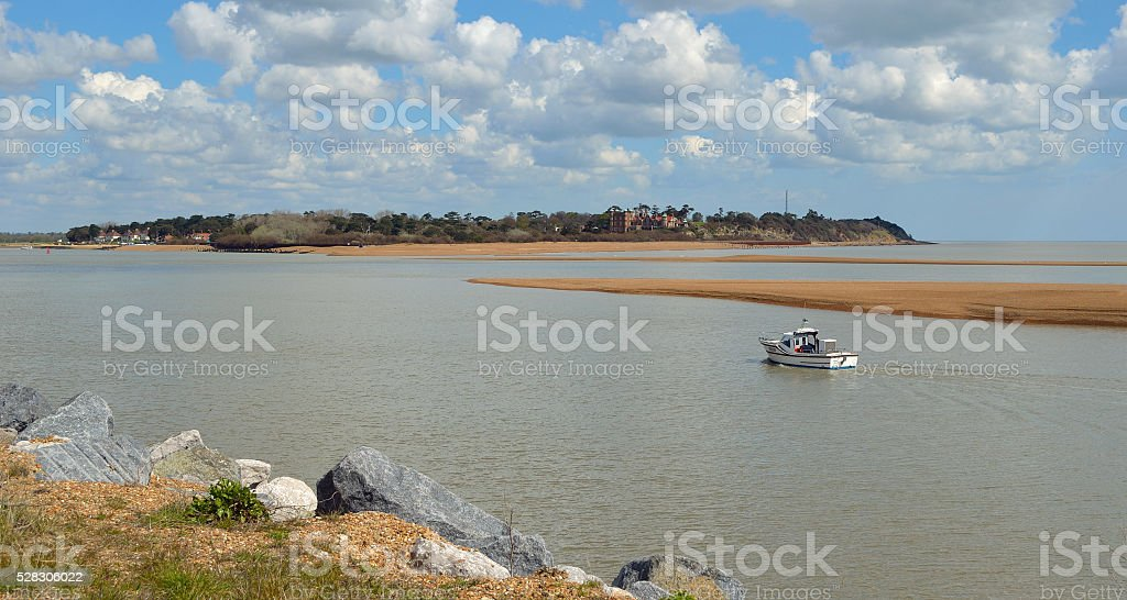 Estuary of the river Deben at Felixstowe Ferry stock photo