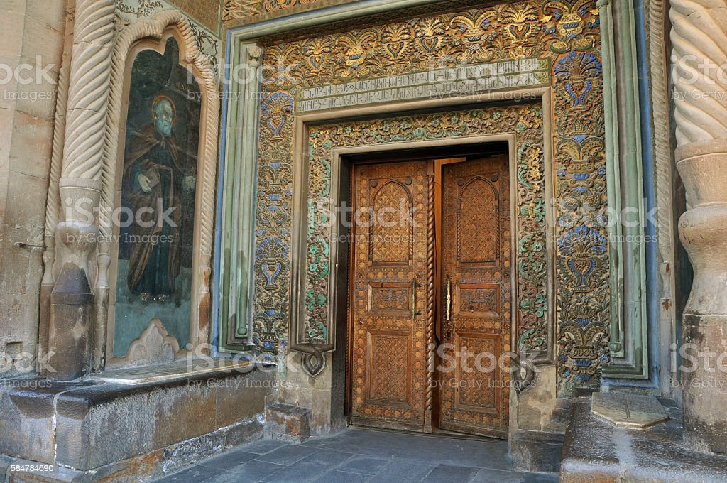 Etchmiadzin Cathedral in Vagharshapat, Armenia stock photo