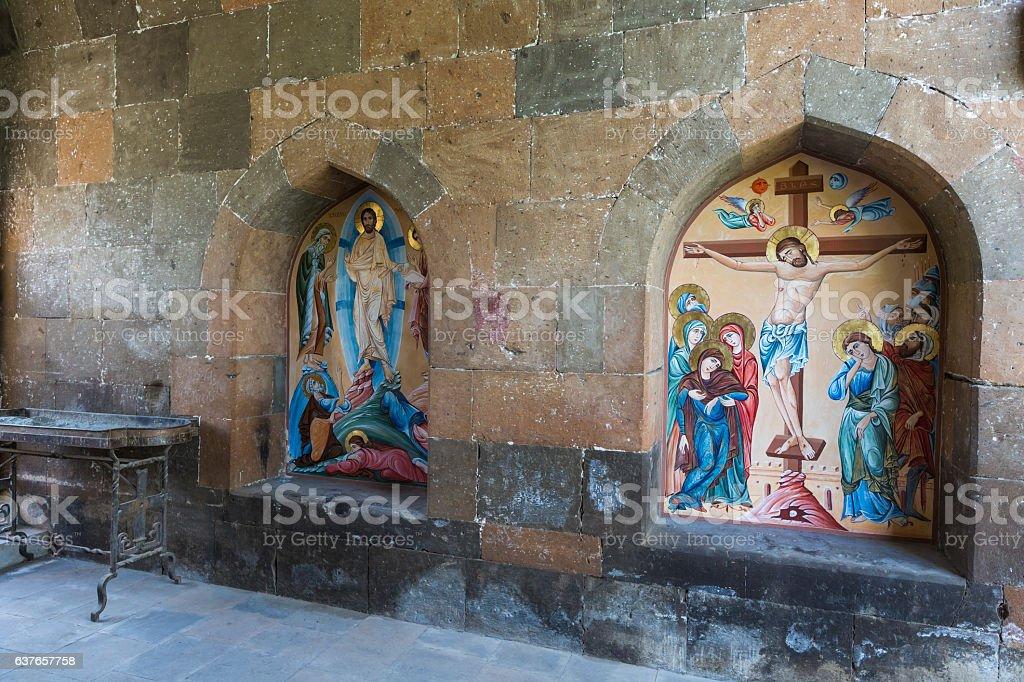 Etchmiadzin monastery stock photo